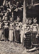 1940 Original BORNEO FEMALE NUDE Breasts Jewelry Kayan Photo Gravure ~ K.F. WONG