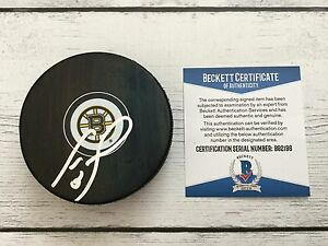Cam Neely Signed Autographed Boston Bruins Hockey Puck Beckett BAS COA a