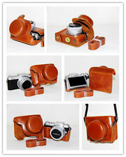 Brown camera leather case bag for Panasonic DMC-GF9 with 12-32mm kit lens GF9