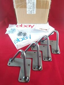 "Set of 4 Hairpin Coffee Table Legs Metal Heavy Duty Mid-Century Modern 4""  inch"