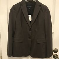 Banana Republic Womens Brown 2 Button Career Work Suit Blazer Coat Jacket Size 8