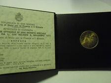 SAN MARINO 1975 LIRE 500 MILLISIMO IN  ARGENTO NEL CONTENITORE