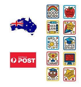 50x School Teacher Reward Children's Kids Reward Stickers Animal 20mm *AU STOCK*