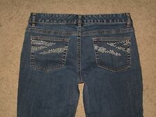 Michael Kors Size 6 Bootcut Dark Blue Stretch Denim Womens jeans 29 Inseam