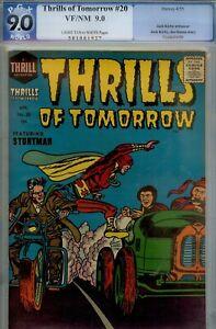 THRILLS OF TOMORROW #20-PGX 9.0- HIGRADE KIRBY/SIMON ART/STRY-1955
