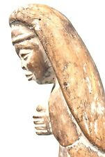 Art African - Statue Wooden - Antique Virgin Baoulé - 38 CMS - Charm