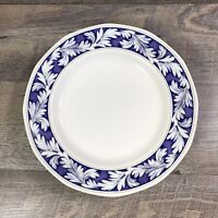 Vintage Wedgwood of Etruria & Barlaston LAUREL Dinner Plate Blue White Leaves