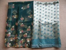 X2 NEW Unstitched Women's Indian/Pakistani Green and Turquoise Suit Material