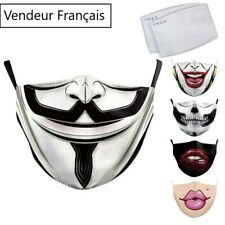 Masque de protection lavable et réutilisable fashion style - compatible filtres