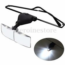 1.5x 2.5x 3.5x Supporting Spectacles Glasses LED Lamp Magnifier Magnifying Loupe