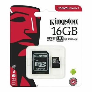 16GB 32GB 64GB 128GB 8GB Memory Card Micro SD SDHC SDXC TF Class 10 kingston uk