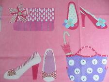 127cm Harlequin Pick n Mix cotton fabric remnant - gorgeous shoes handbag design