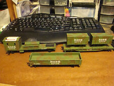 HO Bachmann 4 piece  *M*A*S*H* U.S. ARMY 4077TH train cars