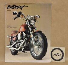Vtg Harley Davidson Enthusiast Magazine 1985 FXRC FLT FXST FL XLX Model Reviews