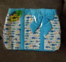 NaRaYa Blue Fish Diaper Bag Infant Boy Girl Unisex- NEW