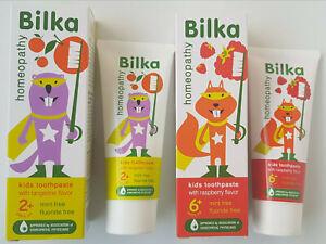 BILKA KIDS HOMEOPATHY TOOTHPASTE NATURAL HERBS 50 ml 6+ and 2 + NEW FORMULA