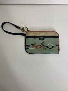 fossil zipper wistlet wallet multicolor