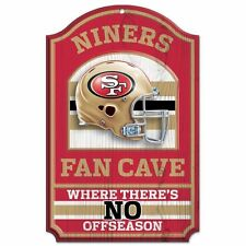 """San Francisco 49ers Official NFL 11""""x17"""" Wood Sign by Wincraft,man cave,05979010"""