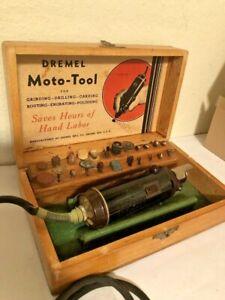 Vintage Dremel Moto-Tool Model No. 2 with Original Case WORKS Made in Racine Wi