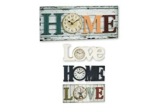 Auriol Home Wall clock Love Black White Vintage Designs Analogue