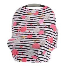 Itzy Ritzy Mom Boss 4-in-1 Multi-Use Nursing Cover Car Seat Cover Floral Stripe