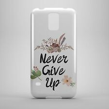 never give up logo phone case cover