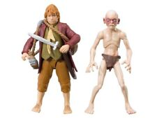"Lord of The Rings Hobbit Bilbo Baggins  & Gollum Action Figure 3.75""scale"