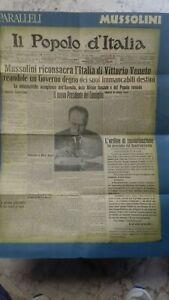 Poster pubblicitario vintage .Mussolini