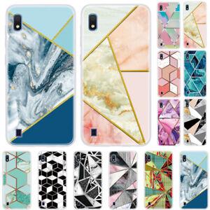 For Samsung Galaxy A20E A10 A30 A50 Rubber Soft Silicone Marble TPU Case Cover