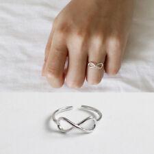 Damen Ring Infinity Symbol Unendlichkeit echt Sterlingsilber 925  47-53 offen