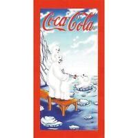Serviette de plage Drap de bain Coca Cola Ours en vacances beach towel coton