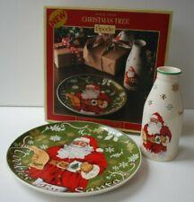 More details for spode christmas tree cookies for santa plate & milk bottle in gift box brand new