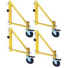 Pro-Series Gsorwcs 18 inch Scaffolding Outriggers with Casters - 4 Piece Set