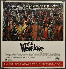 THE WARRIORS 1979 ORIGINAL 21X22 SUBWAY MOVIE POSTER MICHAEL BECK JAMES REMAR