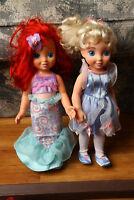 Disney Princess Doll Lot Ariel, Cinderella Playmates 2004 The Little Mermaid