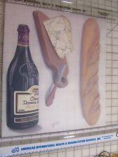 Tatouage Wine, Bread & Cheeze Transfer by Yovan