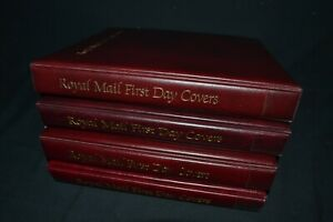 Royal Mail first day cover albums x 4 in good condition all with 20 leaves