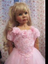 Prinzessinenkleid 128 Kostüm Prinzessin Kleid Fee Königin Schloß rosa Tüll Neu