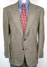 Sterling & Hunt Sport Coat Men's Size 46 Beige Checkered (S2)