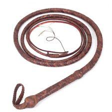 Indiana Jones Bull Whip 08 Foot 12 Plaits Cow Hide Leather CUSTOM BULLWHIP