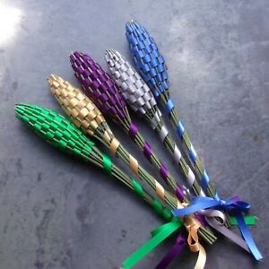 Lavender Filled Wands Gift Set of 5 Small Fragrant Colorful Mix Handmade