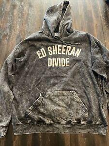 Women's Ed Sheeran Divide Sweatshirt Hoodie Size XL Gray/White World Tour Merch