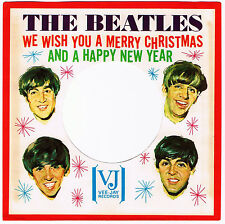 "THE BEATLES ORIGINALS VEE-JAY ""CHRISTMAS"" SLEEVE & TOLLIE 9001 SP! Mint-!!!"