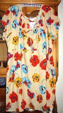 Short Sleeve Floral Plus Size 100% Cotton Tops for Women