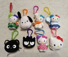 McDonalds Happy Meal Hello Kitty Clips Lot 8 Backpack Plush Plastic Kids Toys