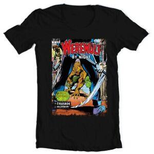 Werewolf by Night T Shirt retro 1970s Marvel Comics horror cotton graphic tee