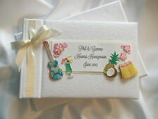 Personalised Caribbean/Hawaii/Barbados/Holiday/Honeymoon Photo Album - Gift