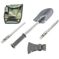 6-IN-1 MULTI-TOOL SURVIVAL KIT AXE SHOVEL KNIFE SAW HAMMER NAIL PULLER w/ POUCH