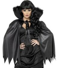 Deluxe Vampiress Vampire Cloak Cape Womens Halloween Fancy Dress P6393