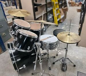 Sonor 5 piece drum kit inc hardware and cymbals